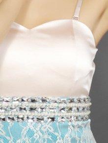 他の写真1: 【Glitter】ベア・タイト・レース・切り替え・ミニドレス・ワンピース