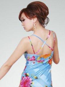 他の写真2: [SALE品のため返品不可]【ERUKEI】花柄・シルク素材・ミニドレス・ワンピース
