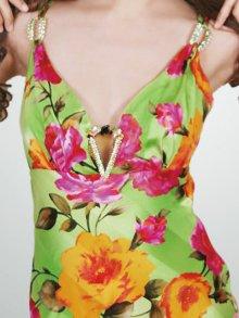 他の写真3: [SALE品のため返品不可]【ERUKEI】花柄・シルク素材・ミニドレス・ワンピース