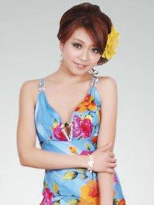 他の写真1: [SALE品のため返品不可]【ERUKEI】花柄・シルク素材・ミニドレス・ワンピース