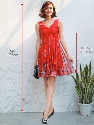 画像5: 【ERUKEI】立体斜線・プリント・4色カラー・ライン・ミニドレス・ワンピース