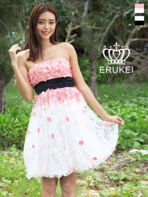 画像1: 【ERUKEI】ベア・フラワー・ミニドレス・ワンピース