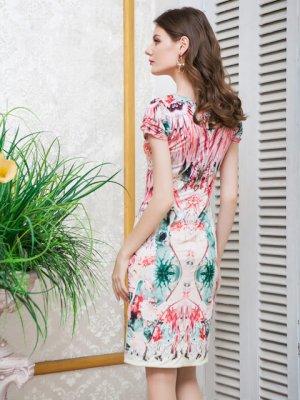 画像3: 【ERUKEI】花柄・フレンチスリーブ・ミニドレス・ワンピース