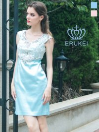 [SALE品のため返品不可]【Glitter 】ブルー・ピンク・ミニドレス・ワンピース