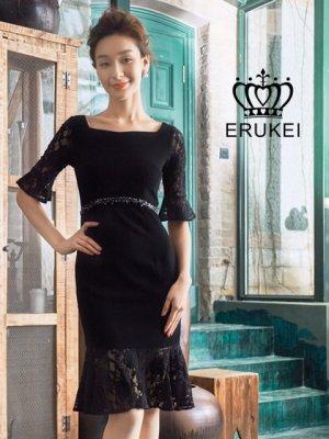 画像2: 【ERUKEI】ブルー・ホワイト・マーメイドライン・ミニドレス・ワンピース