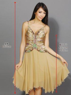 画像5: 【ERUKEI】ゴールド・シルク・ミニドレス・ワンピース