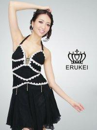 【ERUKEI】フォルター・Aライン・シルク素材・ミニドレス・ワンピース