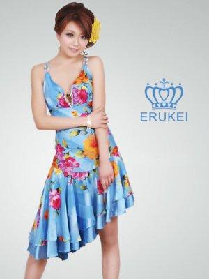 画像2: [SALE品のため返品不可]【ERUKEI】花柄・シルク素材・ミニドレス・ワンピース