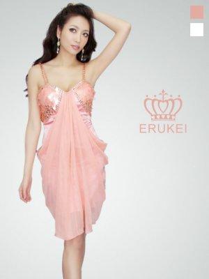画像2: 【ERUKEI】シャイニー・スパンコール・シフォン・ミニドレス・ワンピース