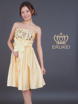 画像2: [SALE品のため返品不可]【ERUKEI】胸元フラワー・ウエストリボン・ベア・ミニドレス・ワンピース