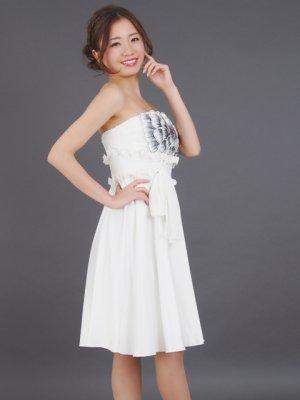 画像3: [SALE品のため返品不可]【ERUKEI】胸元フラワー・ウエストリボン・ベア・ミニドレス・ワンピース
