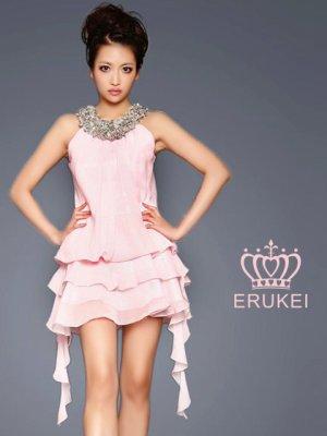 画像2: 【ERUKEI】シフォン・フリル・ミニドレス・ワンピース
