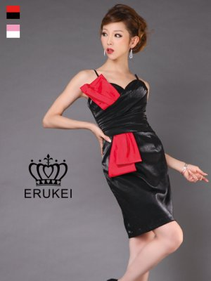 画像1: [SALE品のため返品不可]【ERUKEI】バイカラー・ミニドレス・ワンピース