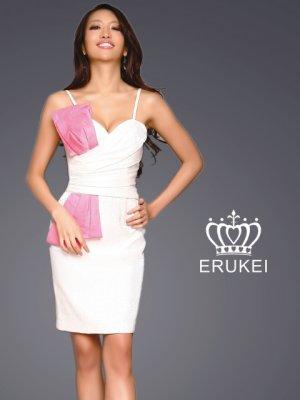 画像2: [SALE品のため返品不可]【ERUKEI】バイカラー・ミニドレス・ワンピース