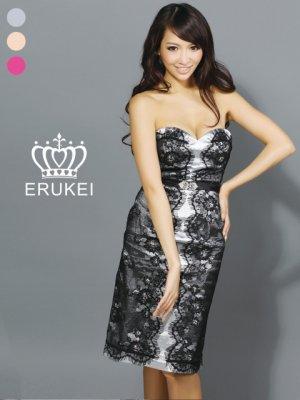 画像1: 【ERUKEI】ベア・サイドレース・ミニドレス・ワンピース