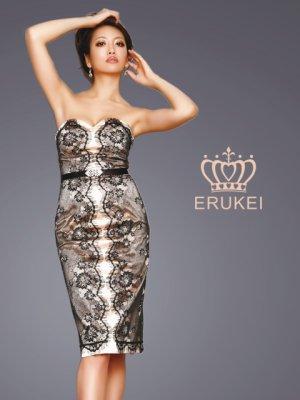 画像2: 【ERUKEI】ベア・サイドレース・ミニドレス・ワンピース