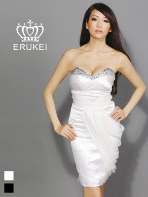 画像1: 【ERUKEI】ベア・シンプル・ミニドレス・ワンピース
