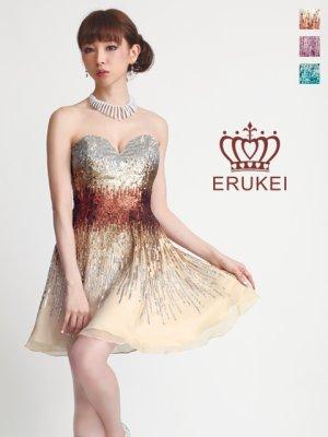 画像1: 【ERUKEI】シルク・ベア・Aライン・ミニドレス・ワンピース