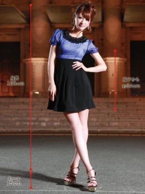 画像5: 【ERUKEI】パフスリーブ・バイカラー・ミニドレス・ワンピース