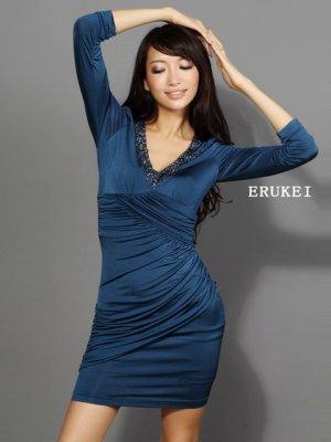 画像3: 【ERUKEI】長袖・シンプル・ミニドレス・ワンピース