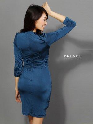 画像4: 【ERUKEI】長袖・シンプル・ミニドレス・ワンピース