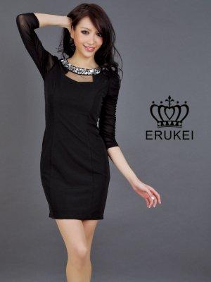 画像3: 【ERUKEI】7分袖・ミニドレス・ワンピース