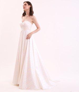 画像2: [SETTAN]ホワイト・ オーロラ・ ベア・ Aライン・ シンプル・ ロングドレス